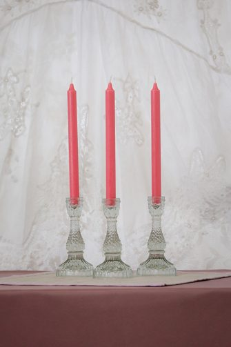 Clear Glass Candle Stick