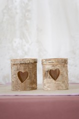Rustic Bark Tea Light Holder