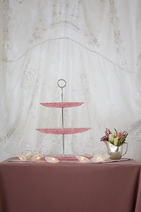 Pink 3 Tier Cake Stand