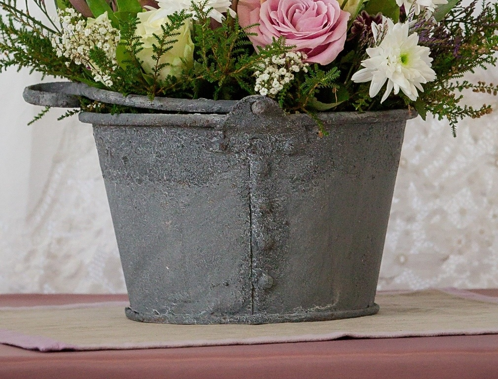 Rustic galvanized containers for Rustic galvanized buckets