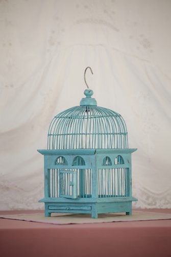 Mint green bird cage