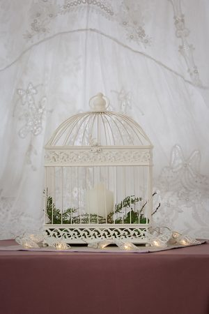Cream Rectangle Birdcage