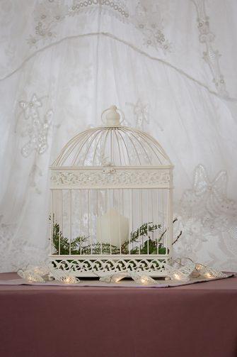 Cream Rectangle Birdcage