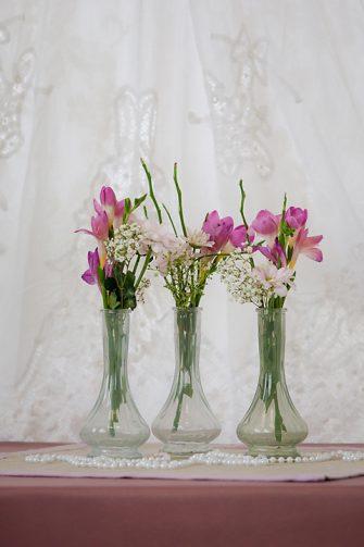 Green Bud Vases