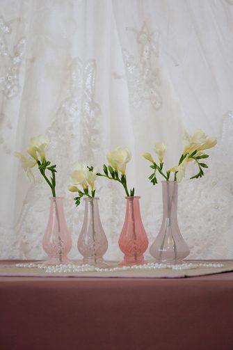 Pink Bud Vases