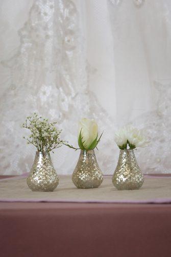 Silver Mercury Bud Vases