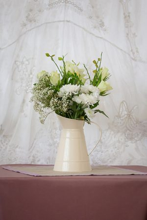 Cream Shabby Chic Jug Flowers