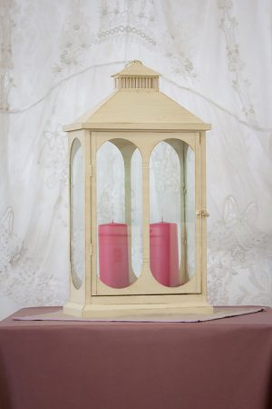 Large Cream Rectangle Lantern