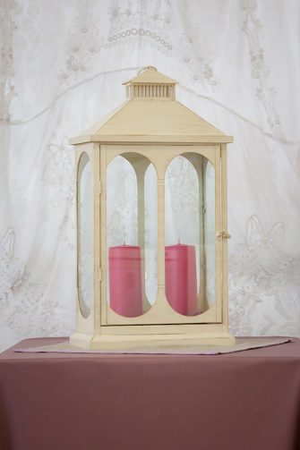 Large Cream Rectangle Lantern
