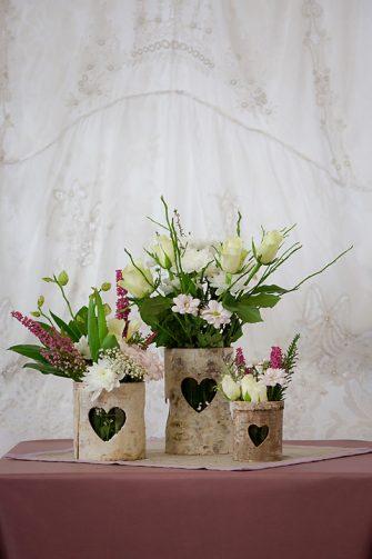 Rustic Bark Vases