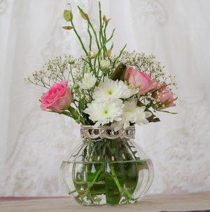 vintage glass vase medium