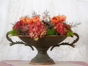 rustic footed urn