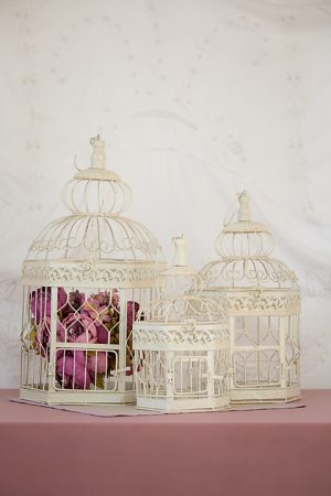 Cream Metal Bird Cage